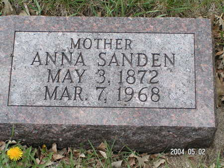 SANDEN, ANNA - Worth County, Iowa | ANNA SANDEN