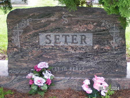 SETER, FAMILY STONE - Worth County, Iowa | FAMILY STONE SETER