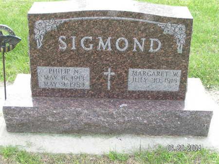 SIGMOND, PHILIP N. - Worth County, Iowa   PHILIP N. SIGMOND