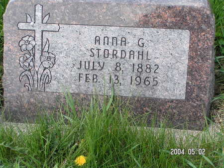 STORDAHL, ANNA G. - Worth County, Iowa | ANNA G. STORDAHL