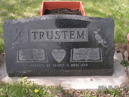 TRUSTEM, ALICE R. - Worth County, Iowa | ALICE R. TRUSTEM