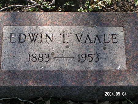 VAALE, EDWIN T. - Worth County, Iowa | EDWIN T. VAALE
