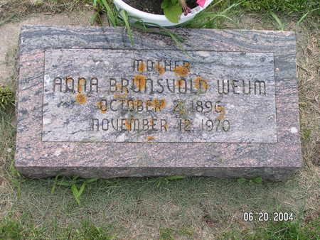WEUM, ANNA - Worth County, Iowa | ANNA WEUM