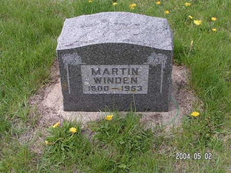WINDEN, MARTIN - Worth County, Iowa   MARTIN WINDEN