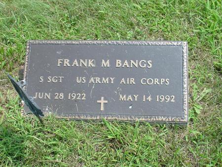 BANGS, FRANK M. - Wright County, Iowa | FRANK M. BANGS