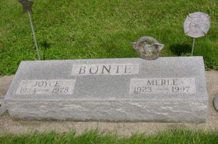 BONTE, MERLE - Wright County, Iowa   MERLE BONTE