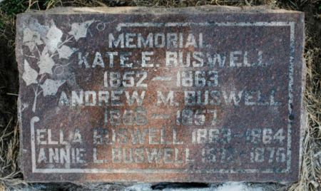 BUSWELL, ANNIE L - Wright County, Iowa | ANNIE L BUSWELL