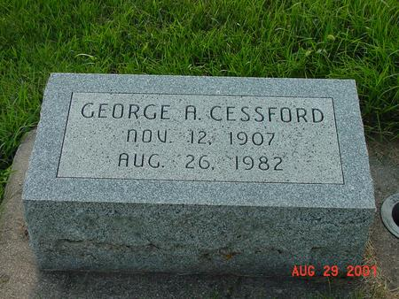 CESSFORD, GEORGE A. - Wright County, Iowa | GEORGE A. CESSFORD