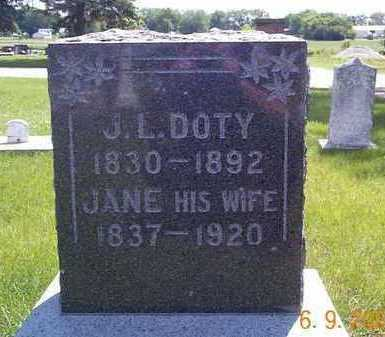 VAN HORN DOTY, JANE REBECCA - Wright County, Iowa | JANE REBECCA VAN HORN DOTY