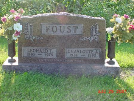 FOUST, CHARLOTTE A. - Wright County, Iowa | CHARLOTTE A. FOUST