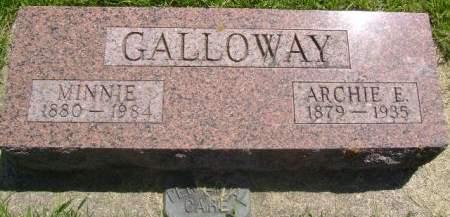 GALLOWAY, MINNIE - Wright County, Iowa   MINNIE GALLOWAY