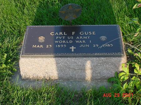 GUSE, CARL F. - Wright County, Iowa | CARL F. GUSE