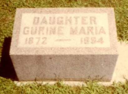 HANSON, GURINE MARIA - Wright County, Iowa | GURINE MARIA HANSON