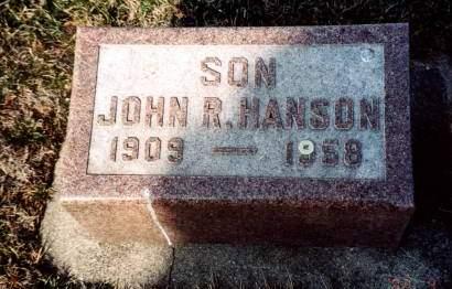 HANSON, JOHN R - Wright County, Iowa   JOHN R HANSON