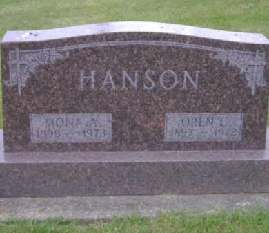 HANSON, OREN C. - Wright County, Iowa | OREN C. HANSON