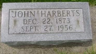 HARBERTS, JOHN - Wright County, Iowa   JOHN HARBERTS