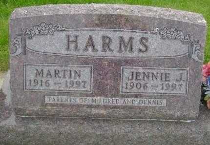 HARM, JENNIE J. - Wright County, Iowa | JENNIE J. HARM