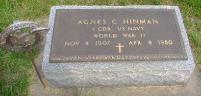 HINMAN, AGNES C - Wright County, Iowa | AGNES C HINMAN