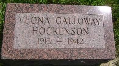 GALLOWAY HOCKENSON, VEONA - Wright County, Iowa | VEONA GALLOWAY HOCKENSON