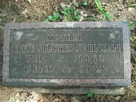 STRYKER JOHNSON, EFFIE - Wright County, Iowa   EFFIE STRYKER JOHNSON