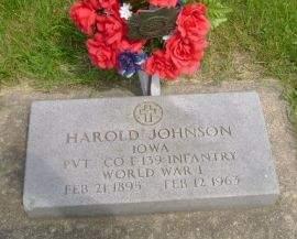 JOHNSON, HAROLD - Wright County, Iowa | HAROLD JOHNSON