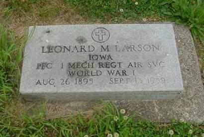 LARSON, LEONARD - Wright County, Iowa | LEONARD LARSON