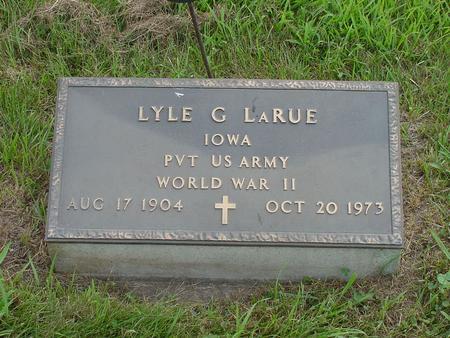 LARUE, LYLE GERALD - Wright County, Iowa | LYLE GERALD LARUE