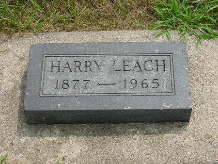 LEACH, HARRY - Wright County, Iowa | HARRY LEACH