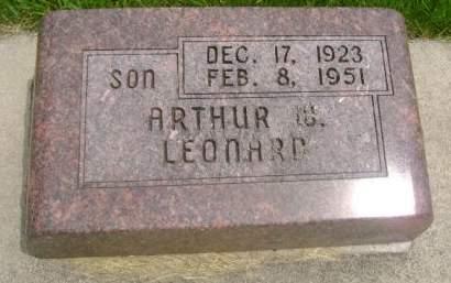 LEONARD, ARTHUR W. - Wright County, Iowa | ARTHUR W. LEONARD