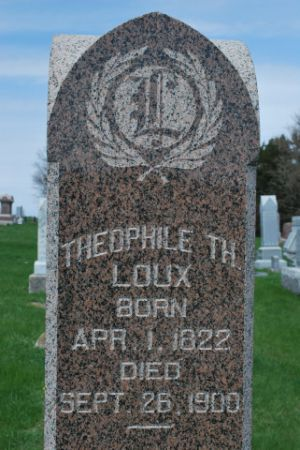 LOUX, THEOPHILE TH - Wright County, Iowa   THEOPHILE TH LOUX