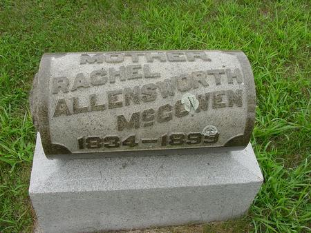 ALLENSWORTH MCGOWEN, RACHEL - Wright County, Iowa | RACHEL ALLENSWORTH MCGOWEN