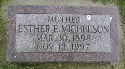 MICHELSON, ESTHER E - Wright County, Iowa | ESTHER E MICHELSON