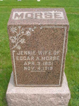 ANDERSON MORSE, JENNIE - Wright County, Iowa | JENNIE ANDERSON MORSE