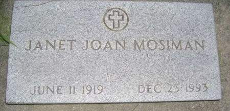 MOSIMAN, JANET JOAN - Wright County, Iowa   JANET JOAN MOSIMAN