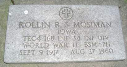 MOSIMAN, ROLLIN R.S. - Wright County, Iowa   ROLLIN R.S. MOSIMAN