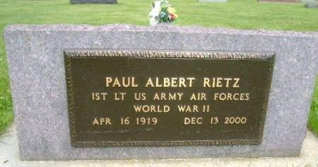 RIETZ, PAUL ALBERT - Wright County, Iowa   PAUL ALBERT RIETZ
