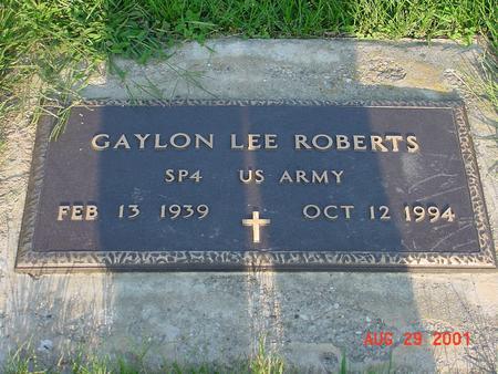 ROBERTS, GAYLON LEE - Wright County, Iowa | GAYLON LEE ROBERTS