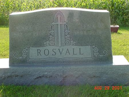 ROSVALL, CARL E. - Wright County, Iowa | CARL E. ROSVALL
