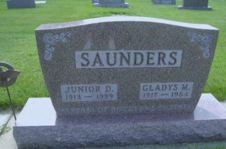 SAUNDERS, GLADYS M. - Wright County, Iowa   GLADYS M. SAUNDERS