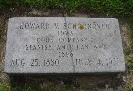 SCHOONOVER, HOWARD V. - Wright County, Iowa | HOWARD V. SCHOONOVER