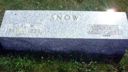 SNOW, EARL WILLIAM - Wright County, Iowa   EARL WILLIAM SNOW