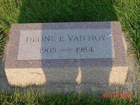VAN NOY, DEONE E. - Wright County, Iowa | DEONE E. VAN NOY