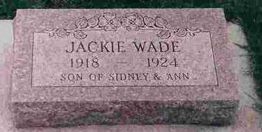 WADE, JACKIE SIDNEY - Wright County, Iowa | JACKIE SIDNEY WADE