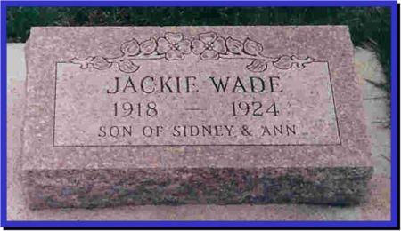 WADE, JACKIE - Wright County, Iowa   JACKIE WADE