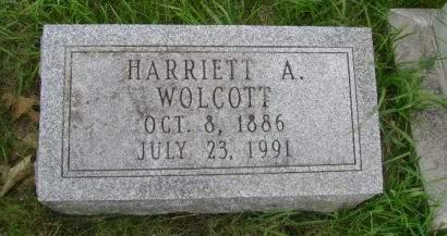 WOLCOTT, HARRIETT A. - Wright County, Iowa | HARRIETT A. WOLCOTT