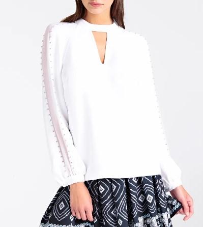 LS SAVANNA TOP GUESS GUESS | Shirt | W94H74W96R0TWHT