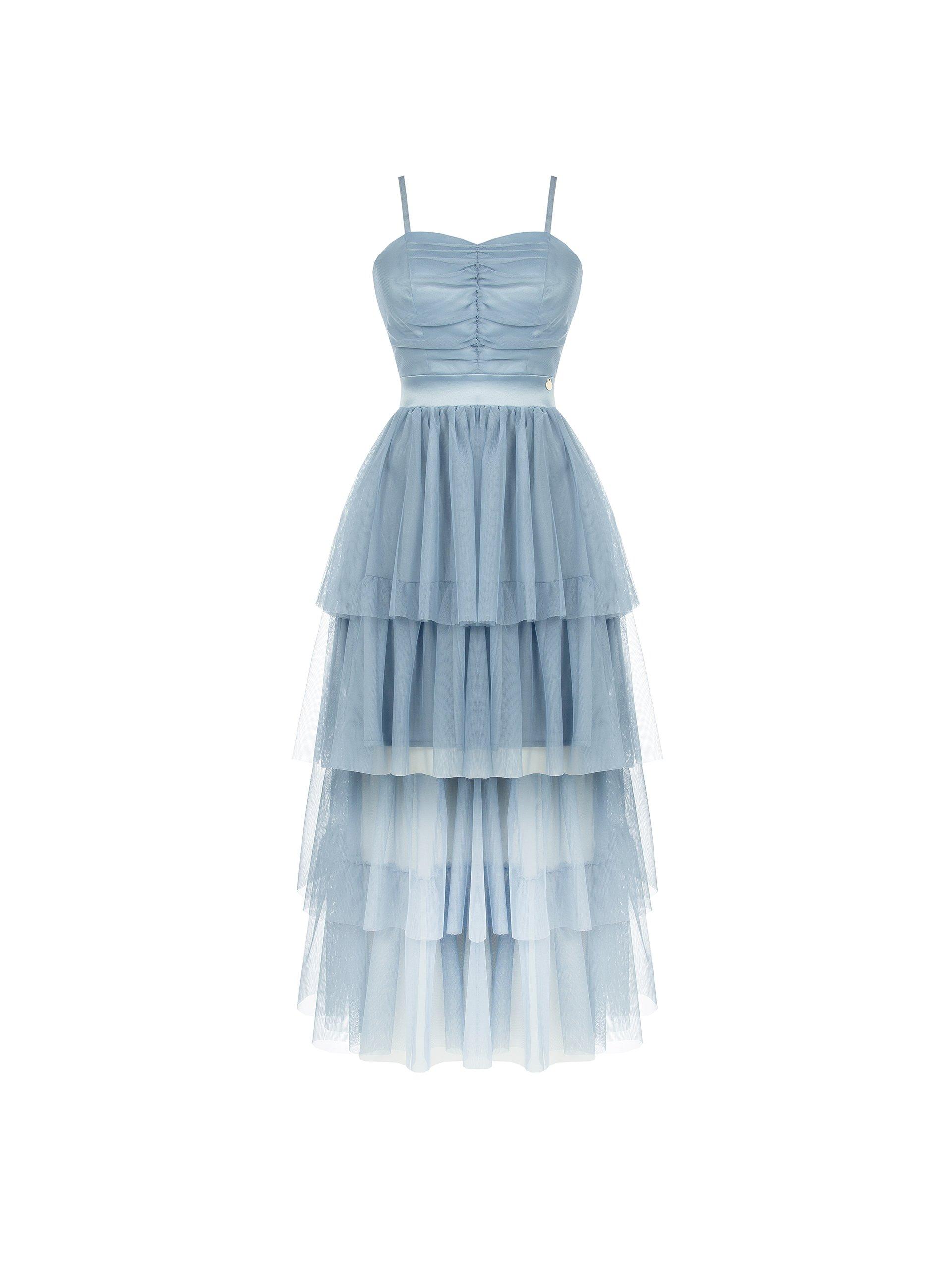 TULLE DRESS RINASCIMENTO   Dress   CFC0104888003AZZURRO