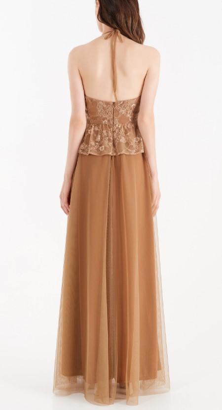 FULL-LENGTH LACE DRESS RINASCIMENTO | Dress | CFC0104894003BRONZO