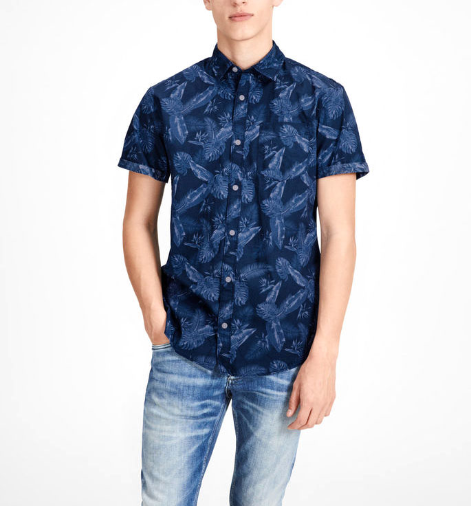 Jack & Jones printed shirt JACK&JONES | Shirt | 12134553DARKDENIM