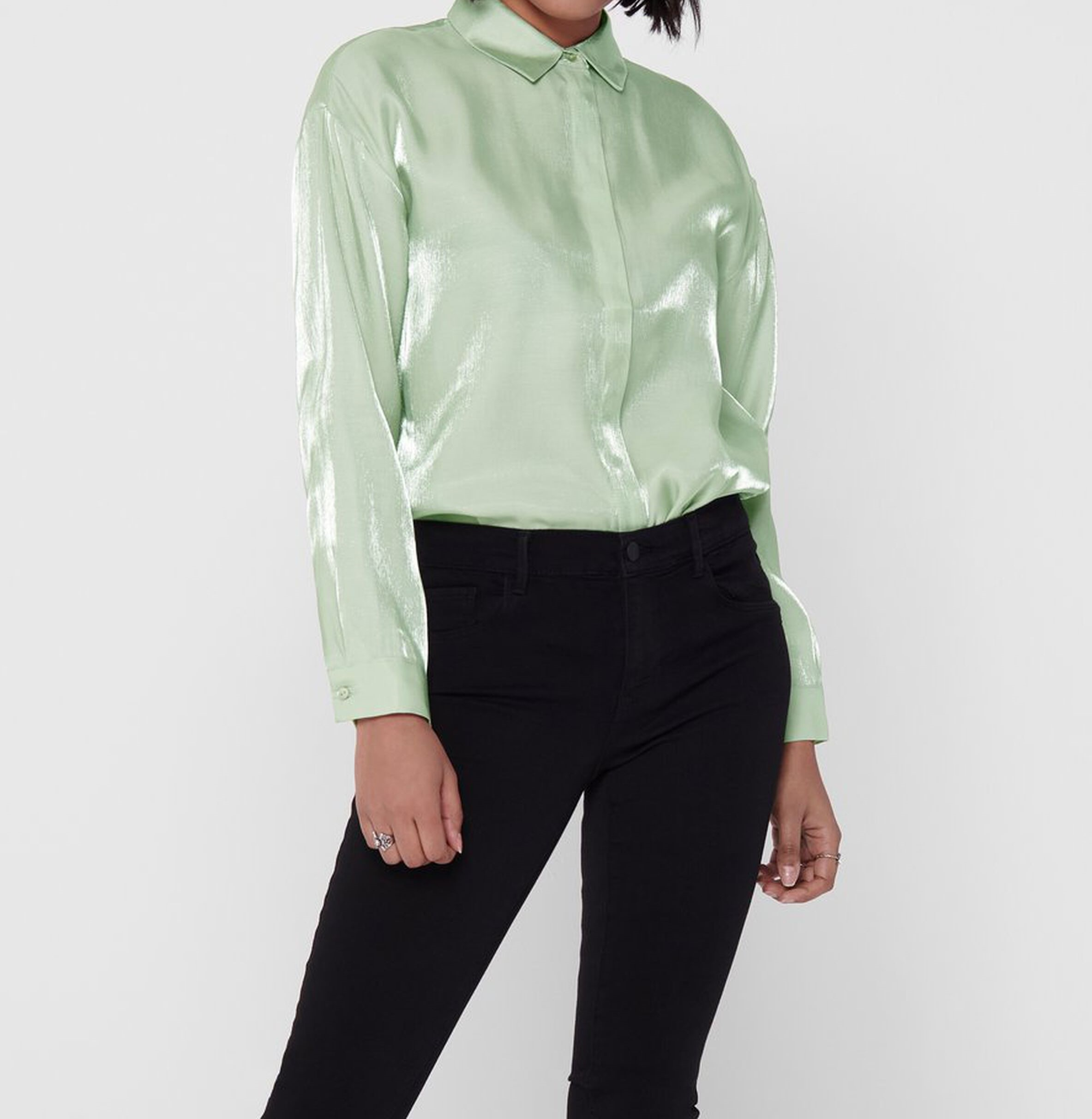 LIVA LS LOOSE SHIRT LOOSE SHIRT WVN ONLY | Camicia | 15197683FROSTYGREEN